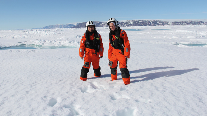 Scientists in the arctic